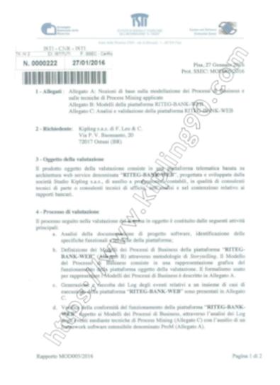 Certificazione Riteg bank Web - Il software di calcolo per l'anatocismo e l'usura